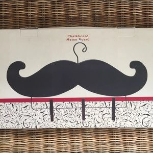 Mustache Chalkboard Memo Board